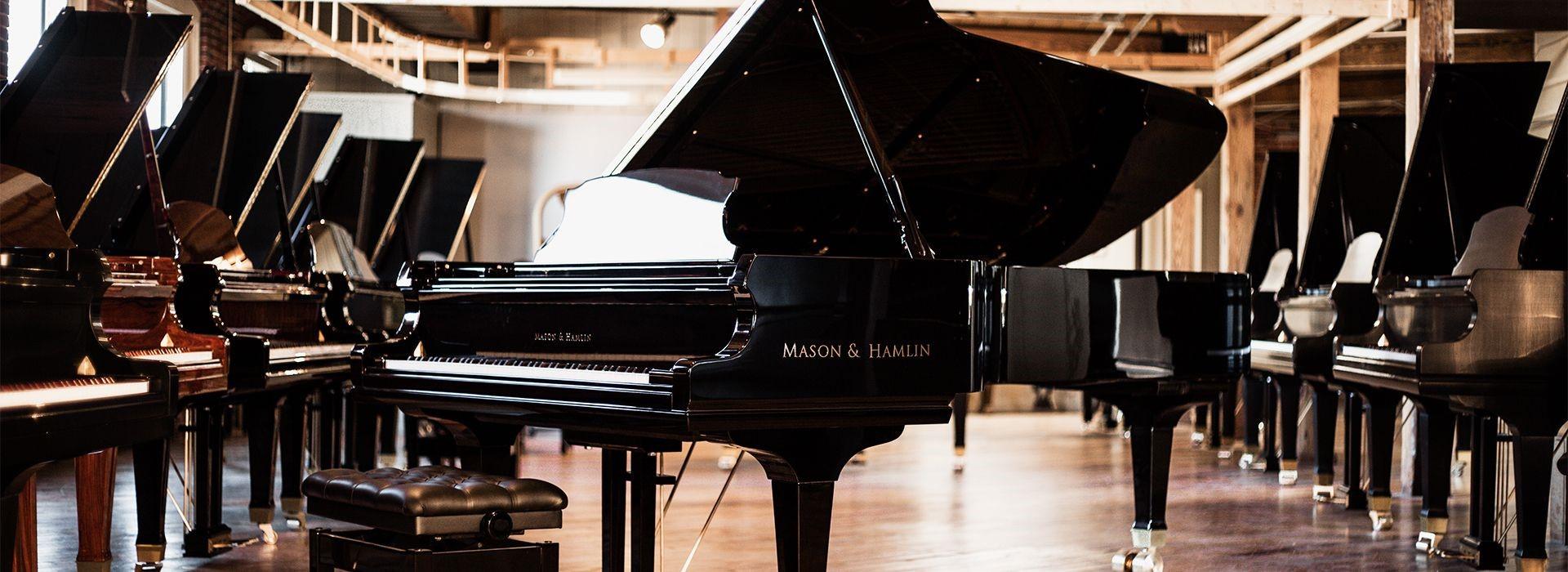 Đàn Grand piano Mason & Hamlin - thương hiệu lâu đời danh tiếng . Sản xuất bằng tay hoàn toàn Mỹ