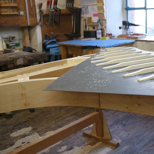 Carbon fibre soundboard